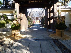 お寺の門松2016