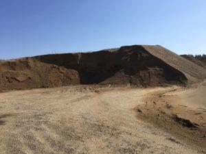 岐阜にある砂利の採掘場